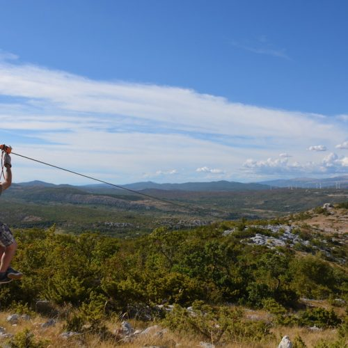 Canopy Zipline tour from Split