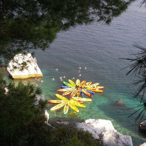 Sea kayaking tour from Split