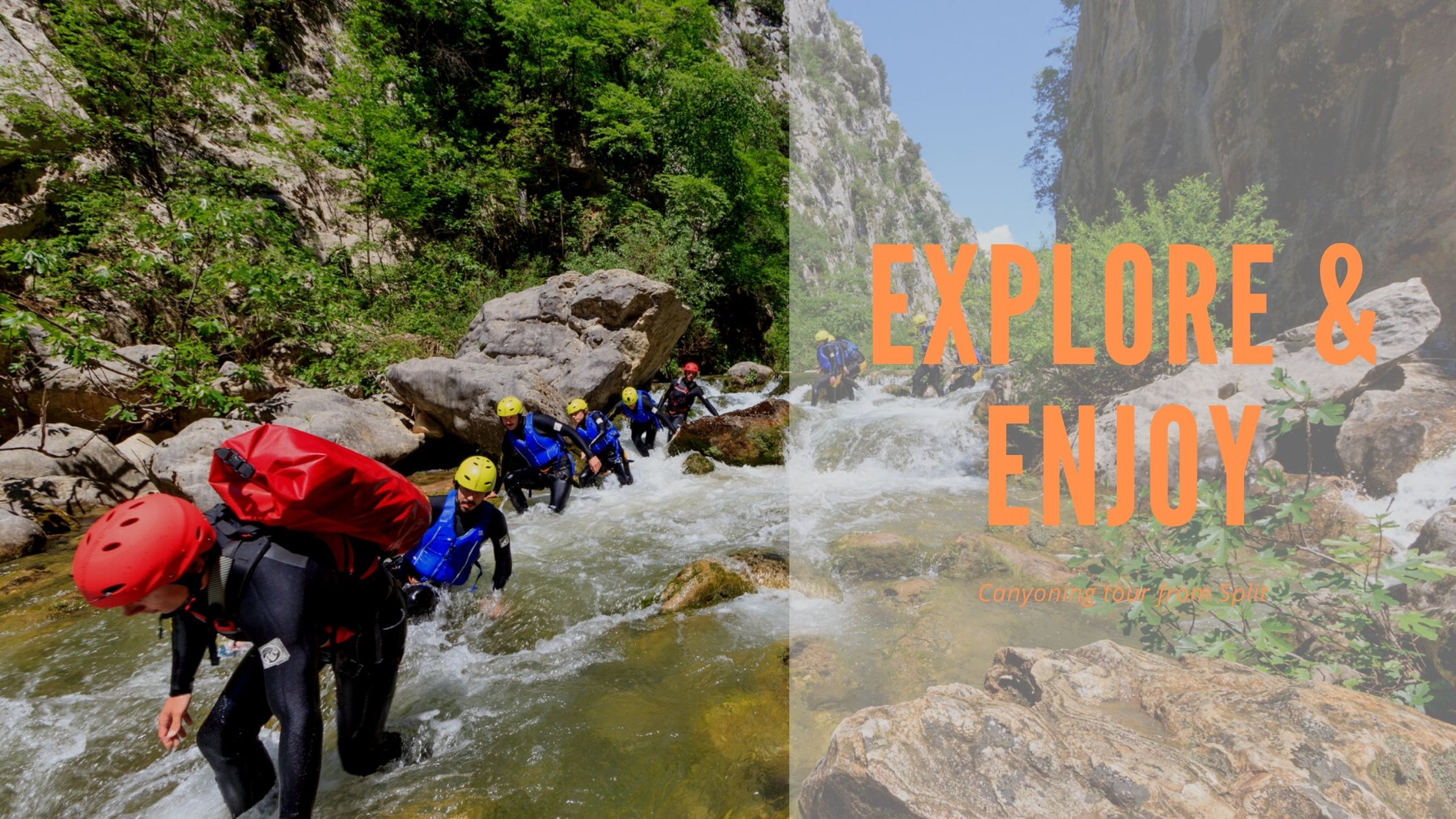 Canyoning tour from Split Explore and Enjoy