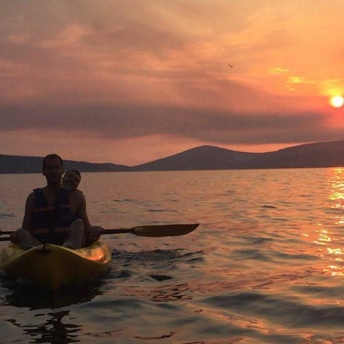 Sunset kayaking tour from Split