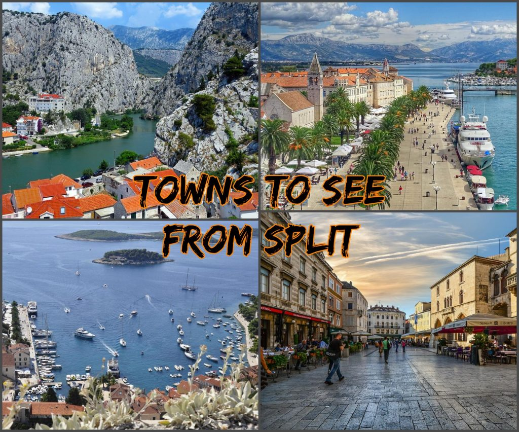 Towns to visit from Split