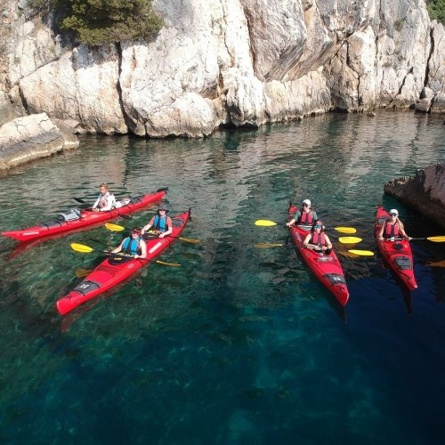 Sea kayaking on island Čiovo from Split