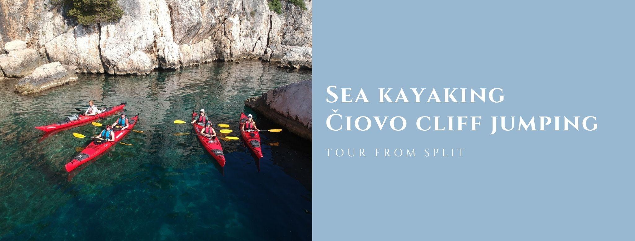 Sea kayak čiovo cliff jumping